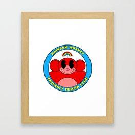 Rainbow Monkey Friendly Friend Club! Framed Art Print