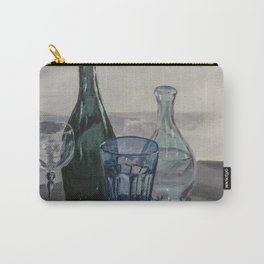 Bottles, glasses, still life with wine glass Carry-All Pouch