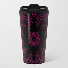 Star Of The East Mandala With Siren Red Color & Black Backdrop Travel Mug