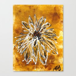 Anemone in Grey Canvas Print