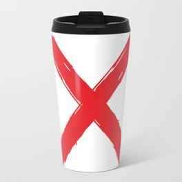 Red X on white background. #society6 #decor #buyart #artprint Travel Mug
