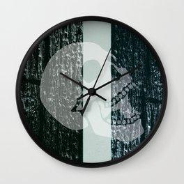 burning skull Wall Clock