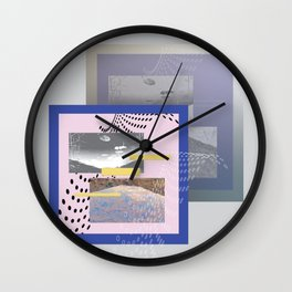 Lake by the window Wall Clock