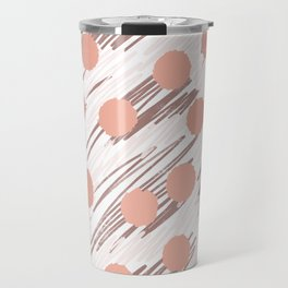 Scratch and Dot abstract minimalist copper metallic art and patterned decor Travel Mug