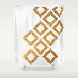 Gold nordic design Shower Curtain
