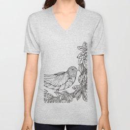 Tree Bird Unisex V-Neck