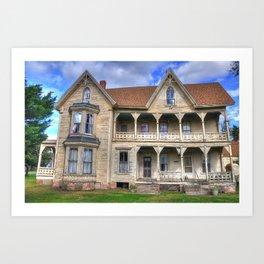 Spooky Old House Art Print
