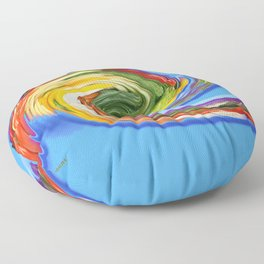 The whirl of life, W1.9C Floor Pillow