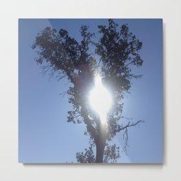 Keyhole sun heart tree Metal Print