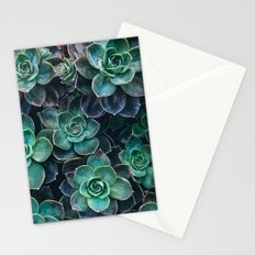 Succulent Blue Green Plants Stationery Cards