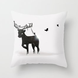 Bb Stag Throw Pillow