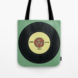 45 record Tote Bag