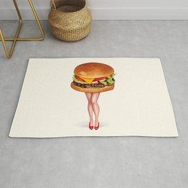 Cheeseburger Pin-Up Rug