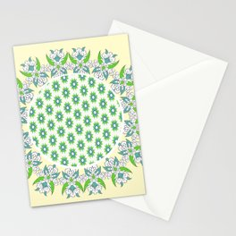 yellow Perisan tile Stationery Cards