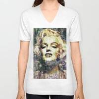 marilyn V-neck T-shirts featuring MARILYN by Vonis