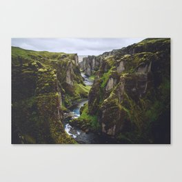 Icelandic Canyon Canvas Print