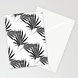 Palmetto Fronds Leaf Pattern Black and White Stationery Cards