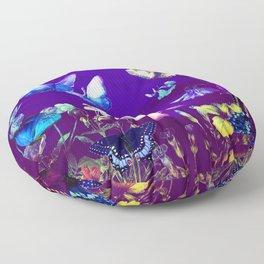 Night Butterflies Floor Pillow