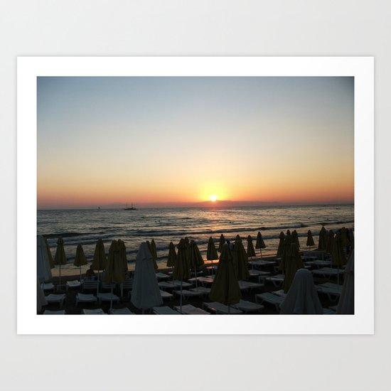 Sunset on Side Art Print