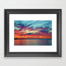 Sunset on Lake St. Clair in Belle River, Ontario Framed Art Print