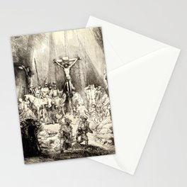 The Three Crosses, 3rd State Stationery Cards