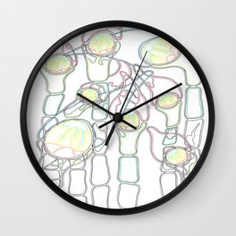 Jellyfish in the Bulrushes Wall Clock