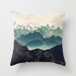 Shades of Mountains Throw Pillow