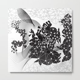 Geometric Nature Garden Metal Print