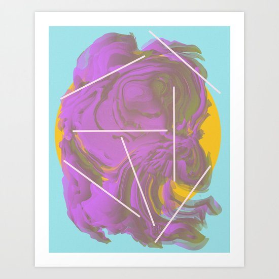 I Don't Want To Wait   Abstract Art Art Print