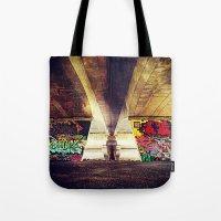graffiti Tote Bags featuring 'GRAFFITI' by Dwayne Brown