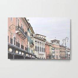 Pastels in Verona Metal Print