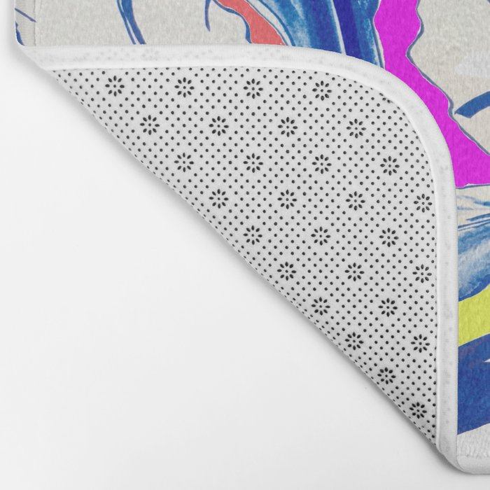Plant in Blue Marker - Leaf of Life Miracle Leaf - Colorful Bath Mat