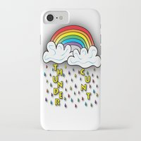 cunt iPhone & iPod Cases featuring Cunt Storm by The Weirdoll Effect