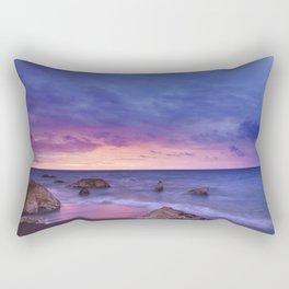 Ocean Beach Dusk Sunset Photography Rectangular Pillow