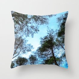 Forest view Throw Pillow