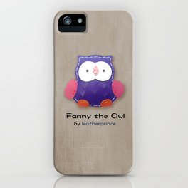 Fanny the owl by leatherprince iPhone Case