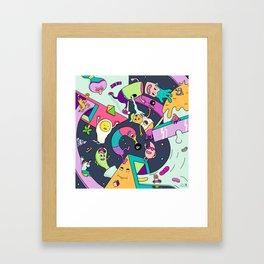 Swirls in Space Framed Art Print
