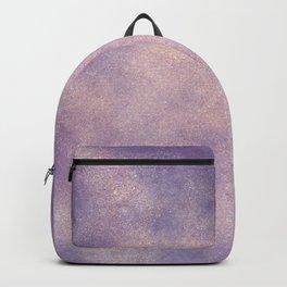 Modern glitter purple lavender watercolor wash Backpack