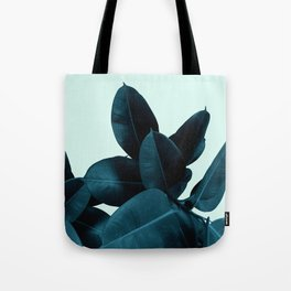 Blue Leaves Tote Bag