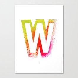 Unconventional alphabet Canvas Print