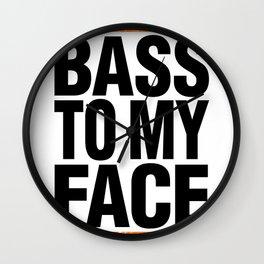 Bass To My Face (orange/black) Wall Clock