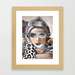 Michelangelo's Sybilla Delfica & Bette Davis Framed Art Print