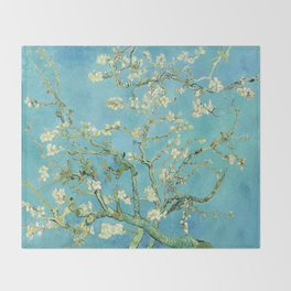 Vincent Van Gogh Almond Blossoms Throw Blanket