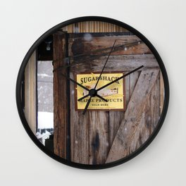 Sugar Shack Maple Products Wall Clock