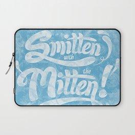 Smitten with the Mitten (Blue Version) Laptop Sleeve