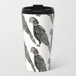 Perched Parrot – Black Palette Travel Mug