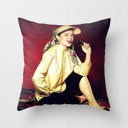 Jean Peters, Vintage Actress Throw Pillow