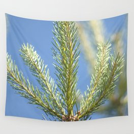 pine tree tops Wall Tapestry