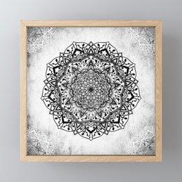 BW ROMANTIC MANDALA Framed Mini Art Print