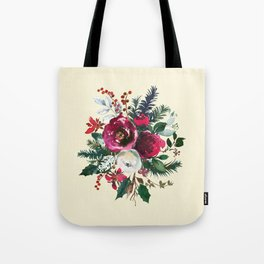 Christmas Winter Floral Bouquet No Text Tote Bag